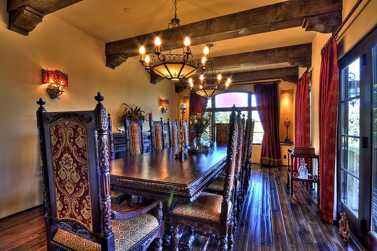 Spanish colonial revival dining room spanish style furniture pinterest traditional for Spanish colonial revival living room