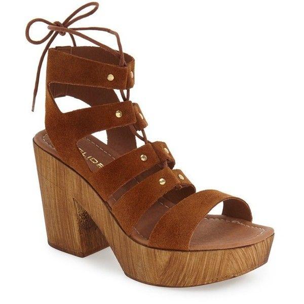 Women's Jslides 'Amelia' Platform Gladiator Sandal ($130) ❤ liked on  Polyvore featuring