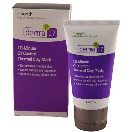 c. Booth Derma 10 Min. Oil Control Clay Mask-2.5 oz by c. Booth. Save 59 Off!. $6.49. Reduces excess oil and shine. Clinically formulated skin care.. De-stresses troubled skin. Draws out dirt and impurities.. This mask contains natural clays such as Bentonite and Kaolin to draw out excess oils and toxins from the skin. Oily shine is replaced with tighter pores and a healthy glow. For skin under stress, it energizes every cell with a new vitality you can see and feel. May als...