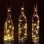 20 Warm White LED Cork Wine Bottle Lamp Fairy String Light Stopper, 40-Inch - 2.82
