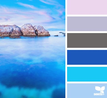 Clear, thoughtful, fresh hues for a high Innovation value. Also great for Clarity or Depth. | seascape hues via Design-Seeds | commentary via The Voice Bureau at AbbyKerr.com