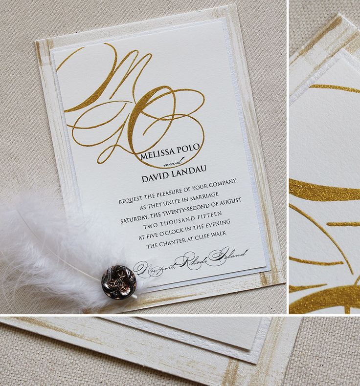 tie ribbon wedding invitation%0A Melissa P   Vintage Inspired Monogram Wedding Invitation