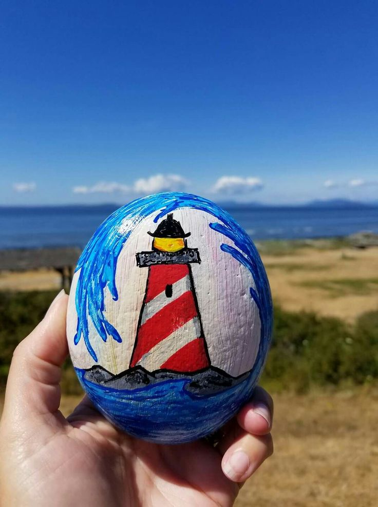Painted rocks - lighthouse