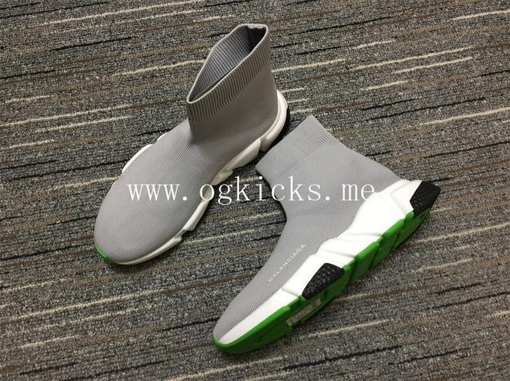 balenciaga grey and green