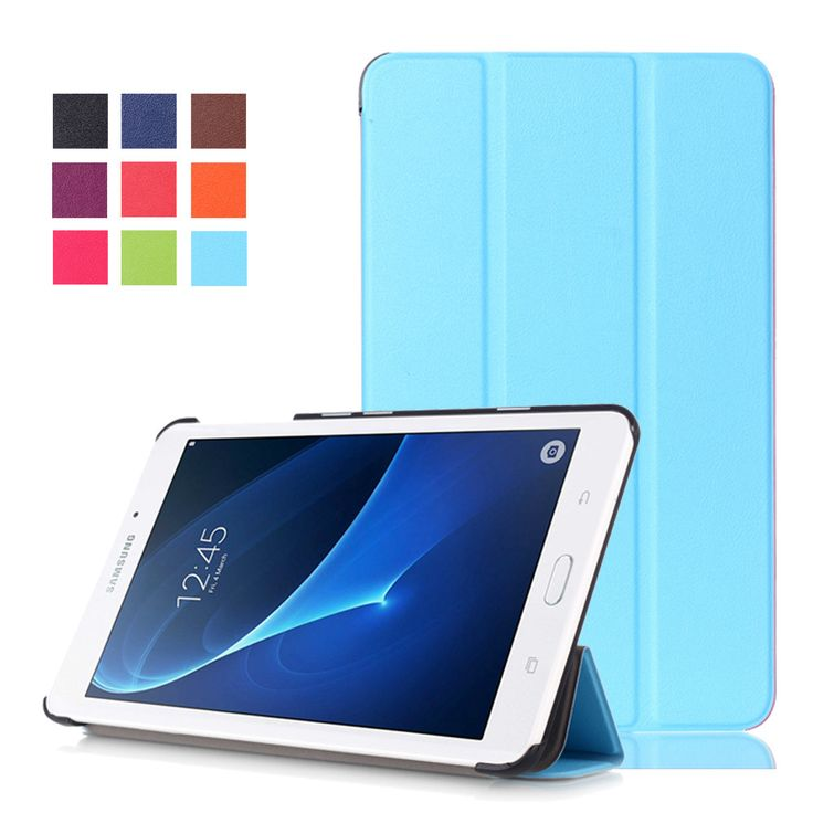 For Samsung TAB J MAX /TAB J 7.0 T285DY Tablet Case Protective PU Leather Stand Flip Cover Magnetic Cases