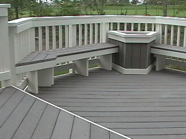 Deck trex backyard pinterest for Synthetic deck material