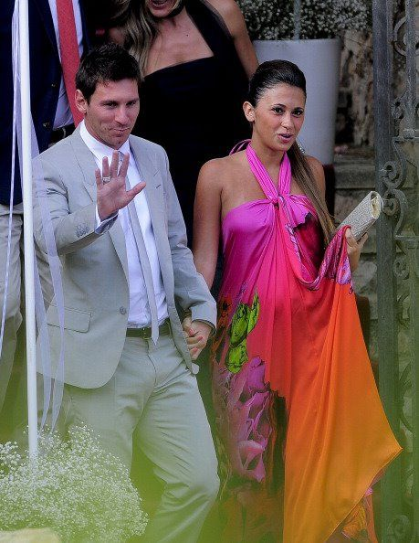 Messi and wife