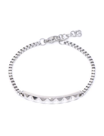 Pyramid Bar bracelet - Silver