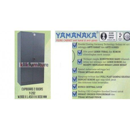 Harga Y 202 Yamanaka Condition:  New product  Lemari Cabinet Filing Besi untuk kantor dan rumah Ukuran  W: 900 x L : 450 x H : 1830 mm Anti karat dan anti gores
