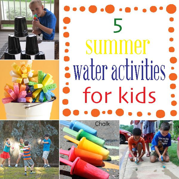 Summertime Schedule: How to keep kids busy: 5 water activities - Liz on Call