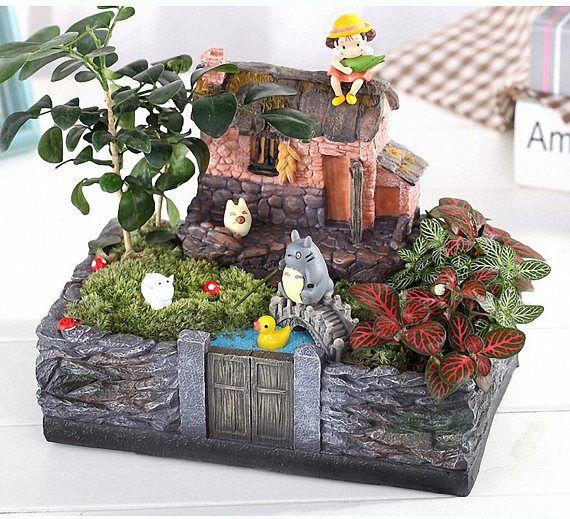 1pc Vintage Country Cottage Succulent Plants Pot Decorative