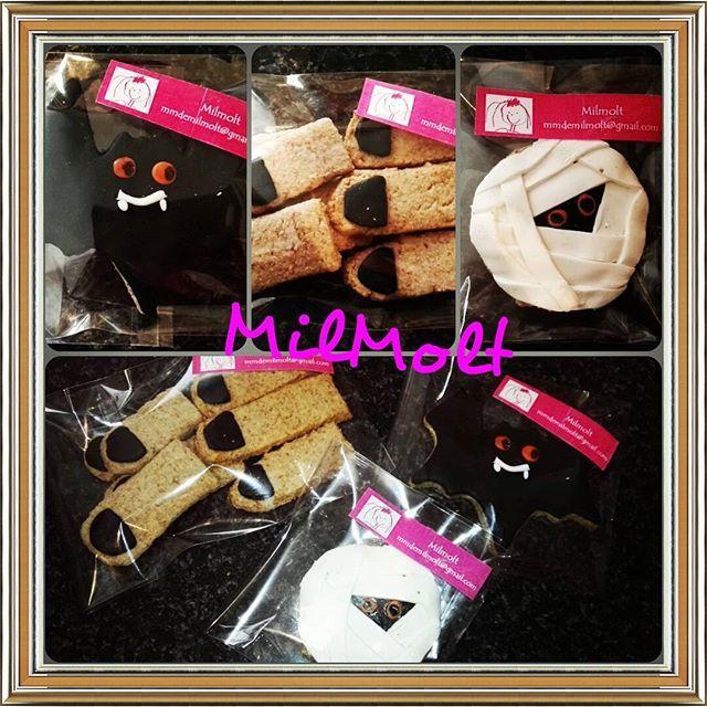 Preparando #halloween con #galletas decoradas #milmolt #cookies #fondant #handbag