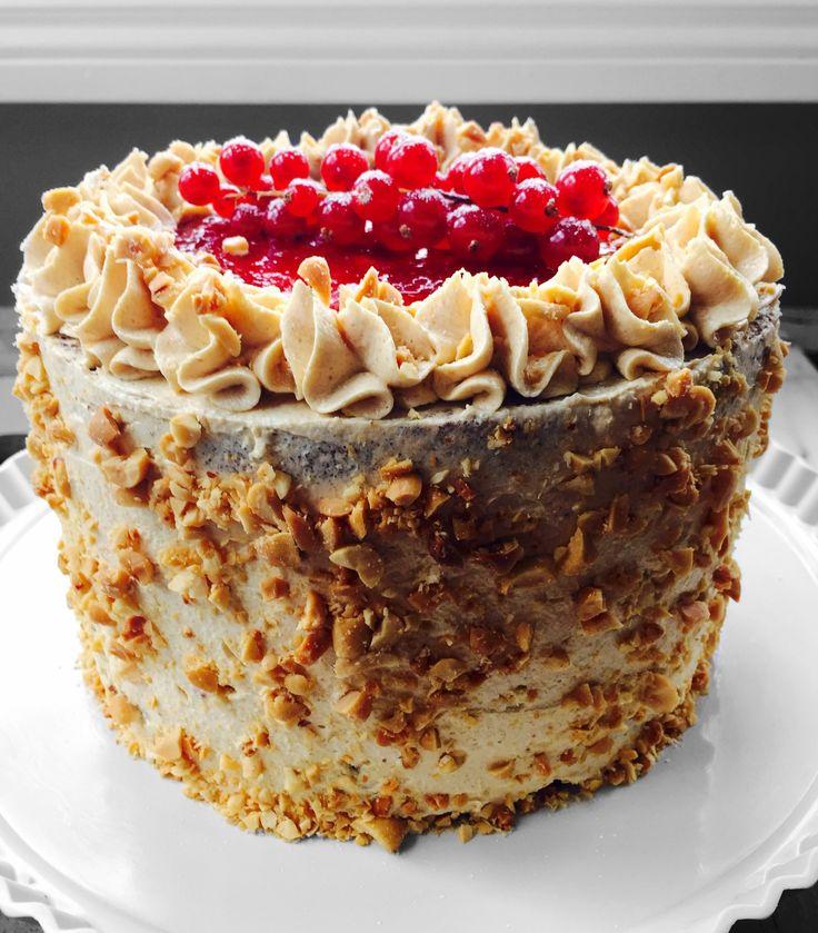 PEANUT BUTTER AND JAM CHOCOLATE CAKE