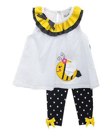 Loving this Yellow & Black Bee Tunic & Leggings - Infant on #zulily! #zulilyfinds