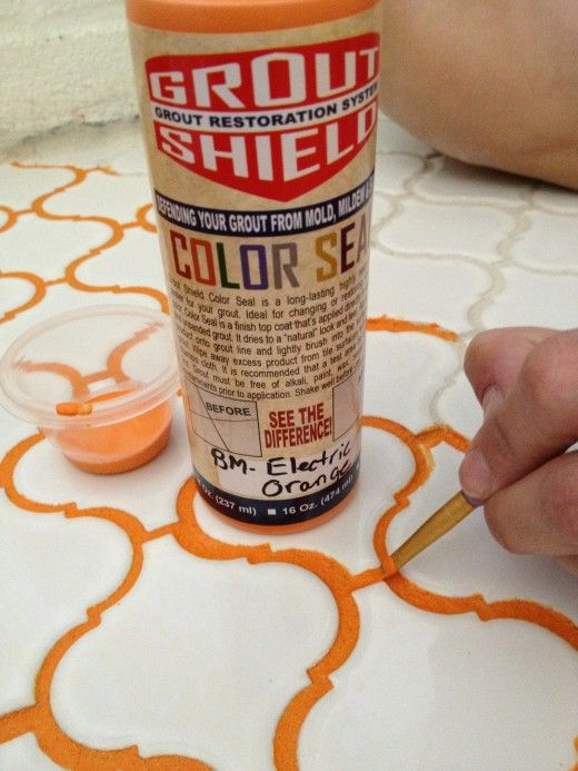 Effortless Style Colored Grout | Jan 21, 2015 | http://blog.effortless-style.com/2015/01/colored-grout/ | Grout Shield can be colored