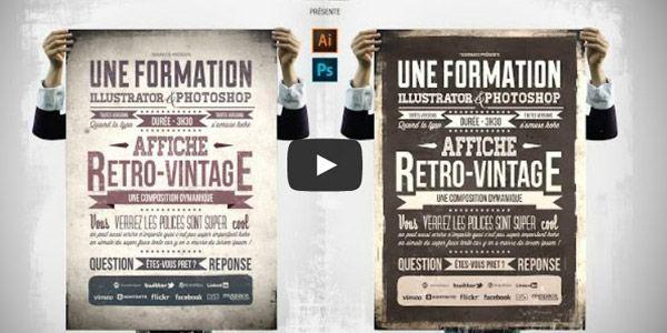 tuto-photoshop-illustrator-creer-affiche-retro-vintage-typographie