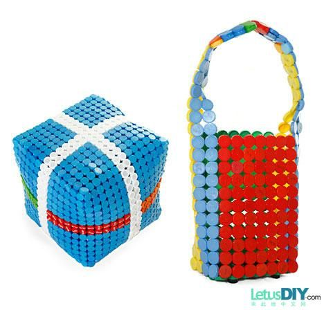 DIY table & bag by plastic cap -----LetusDIY.ORG|DIY Everything here
