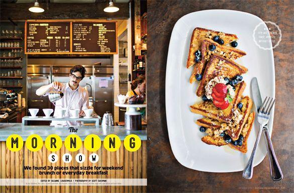 Baltimore's best breakfast spots. Baltimore magazine. October 2013 issue. Photography by Scott Scott Suchman.