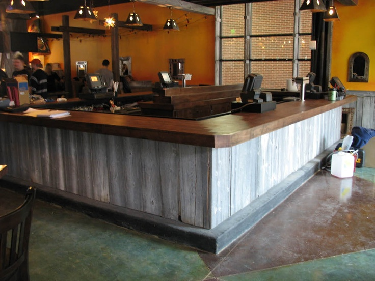 Barnwood Bar Face Tasting Room Ideas Pinterest The O