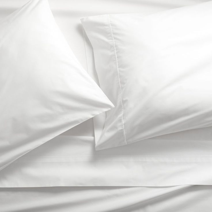 pima 415 thread count white queen sheet set