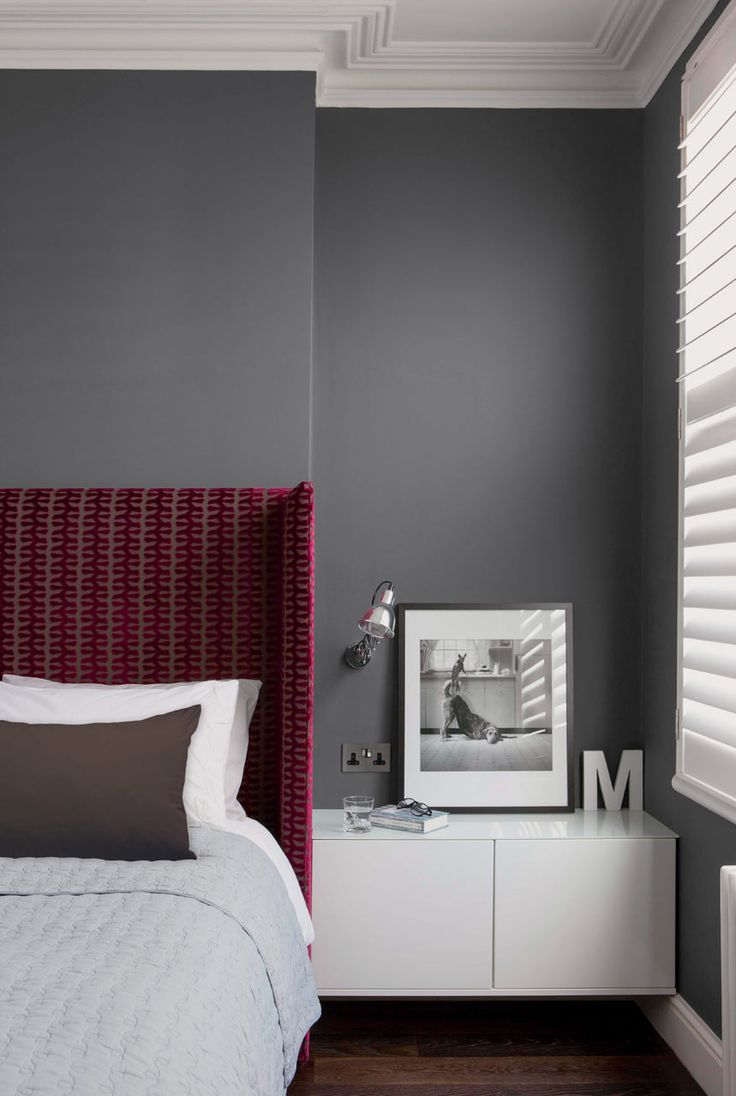 gray bedroom on design milk pantone valspar paint i love - Maroon Bedroom Interior