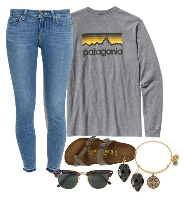 Untitled #729 by southernstruttin on Polyvore featuring polyvore, fashion, style, Paige Denim, Birkenstock, Kendra Scott, Alex and Ani, Ray-Ban, Patagonia and clothing