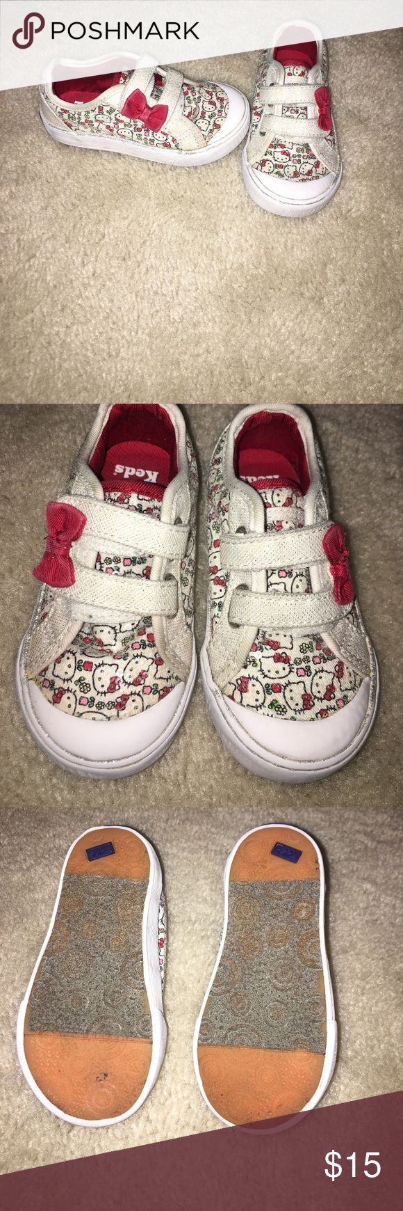 Hello Kitty Keds size 7m These Hello Kitty Keds have a lot of life left in them. See pictures for wear. These are in GUC with some wear, but clean toes and no rips or tears in the fabric. Keds Shoes Sneakers