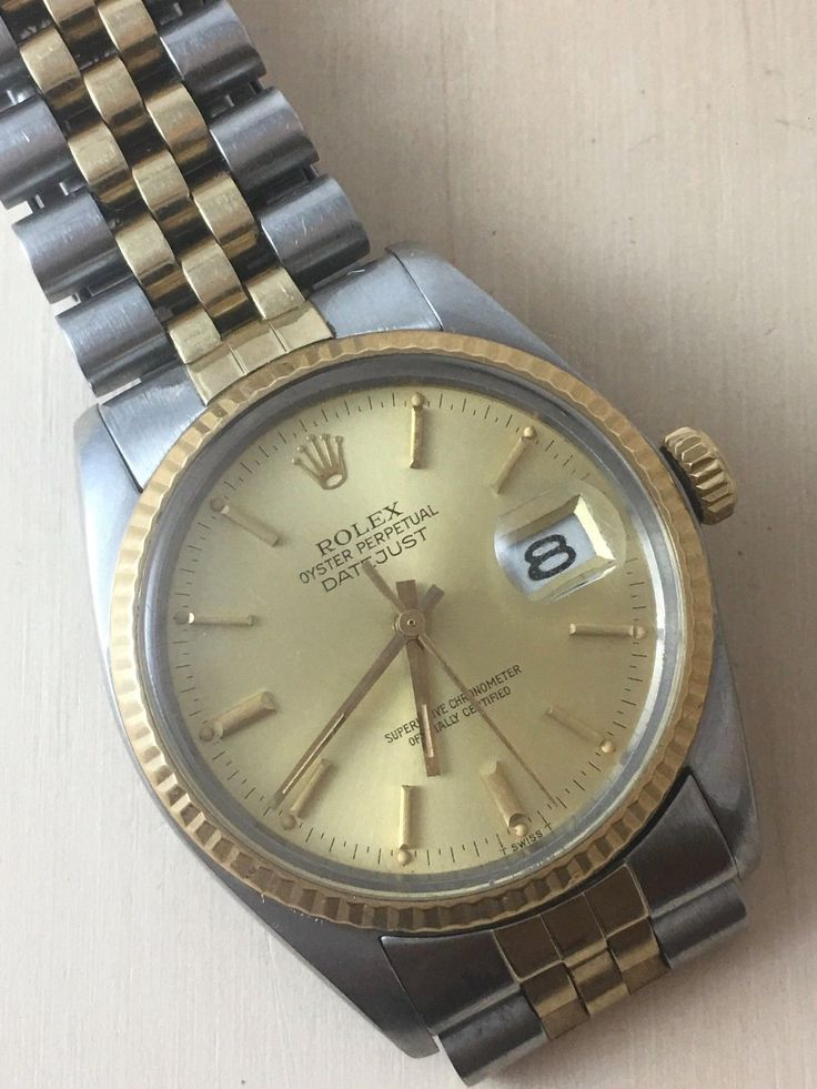 #Forsale #Rolex Oyster Perpetual Datejust Cal3035 Ref 16014 Steel and Gold 14k - Price @$1,731.00