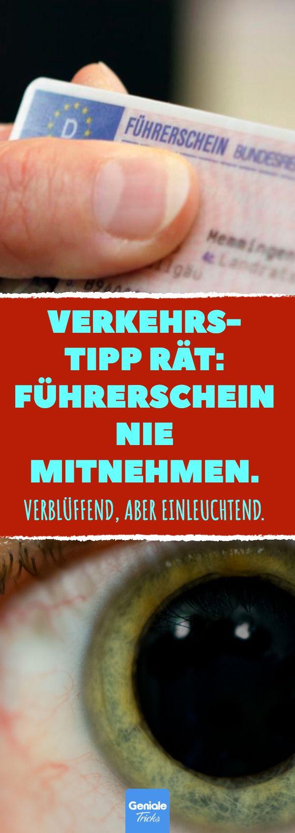 Verkehrs-Tipp rät: Führerschein nie mitnehmen. #Führerschein #Auto #Polizei #… – Alois Fehn