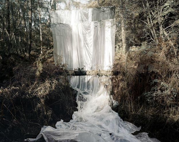 #forest #fabric #waterfall by Noemie Goudal,