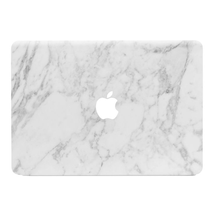 White Marble MacBook Sticker