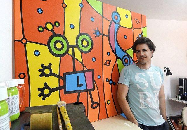 Marcello Dellova in his studio.