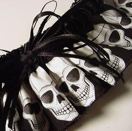 Wedding Garter Goth Skull Bride Black And White Punk Rocker