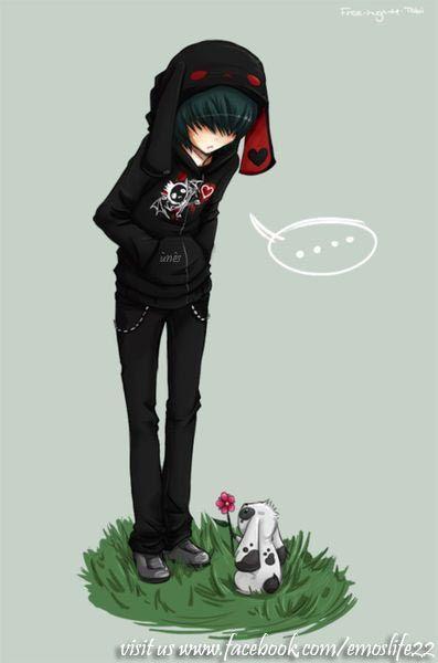 emo scene boy
