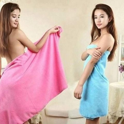 Large Absorbent Microfiber Bath Towels (2 Pack)