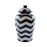 CAN12212 Canister Zig Zag Black/White