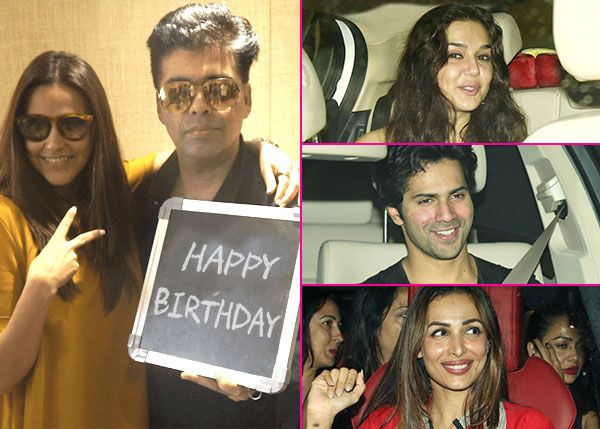 Preity Zinta, Varun Dhawan, Malaika Arora Khan gather at Karan Johar's house as he throws a grand birthday bash for friend Neha… #FansnStars