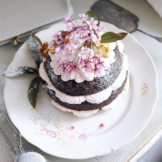 """""""No sweetheart on Pentecost Sunday - No sweetheart all summer."""" My sweetheart is a mocha layer cake. All vegan - all pretty. And the best part: we never fight."""