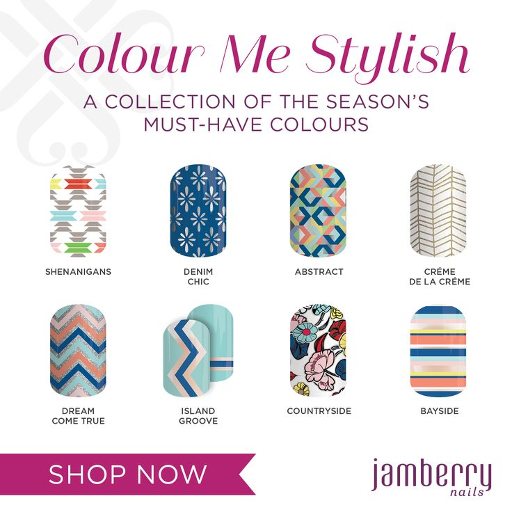 Colour Me Stylish - new Jamberry collection
