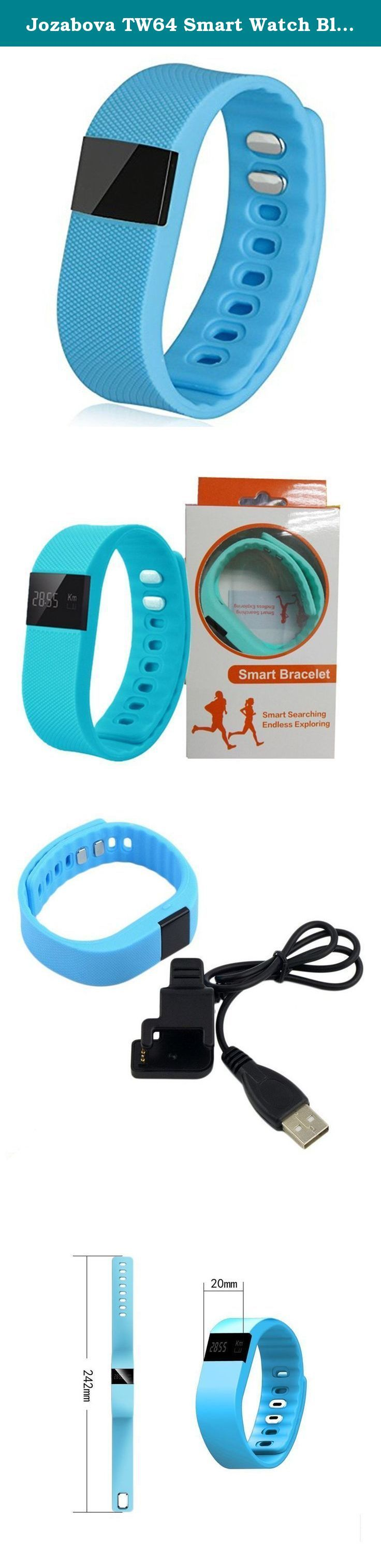 Jozabova TW64 Smart Watch Bluetooth Watch Bracelet Smart band Calorie Counter Wireless Pedometer Sport Activity Tracker For iPhone Samsung Android IOS Phone (Blue). Standby time: 15 days. Your healthy monitor: Help you to keep a good habit,health and happiness follow you. Love life walking from now on: TW64 will record your step,distance and calorie,which can help you to set the target. Monitor your sleep:TW64 is able to detect how long you sleep,through its health software,count up your...