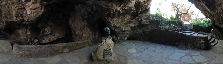 Panorama of the entrance to the Sterkfontein Caves in the Cradle of Humankind, South Africa
