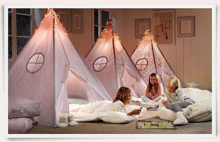 playroom: Little Girls, Idea, Restoration Hardware, Slumber Parties, Tent, Indoor Camps, Sleepover Parties, Girls Rooms, Kid