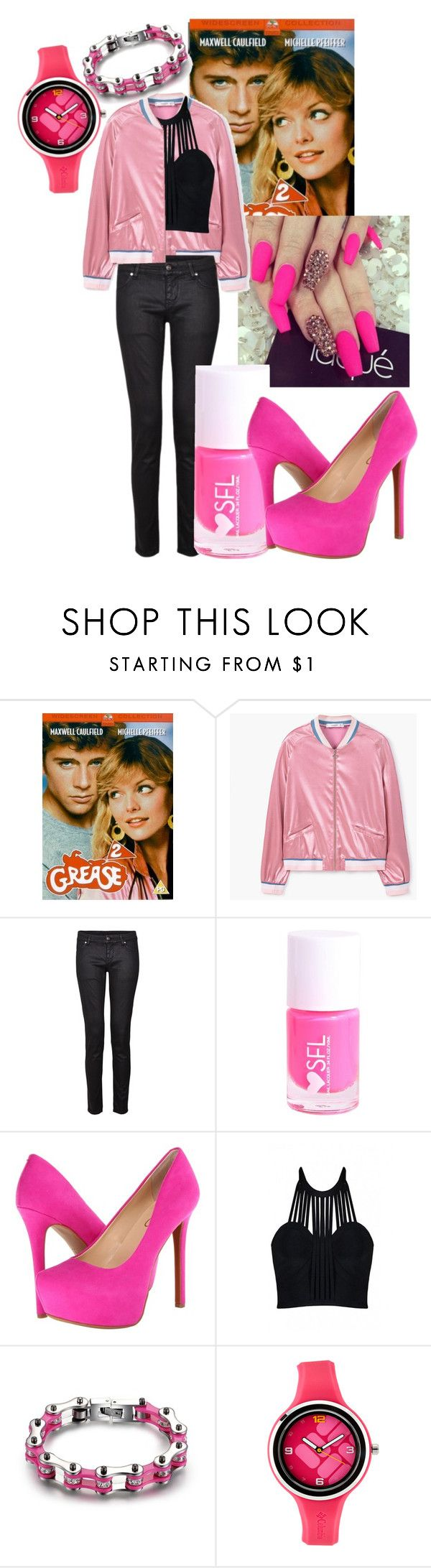 """""""Grease"""" by stream5 ❤ liked on Polyvore featuring MANGO, IDA, Jessica Simpson, Posh Girl and Columbia"""