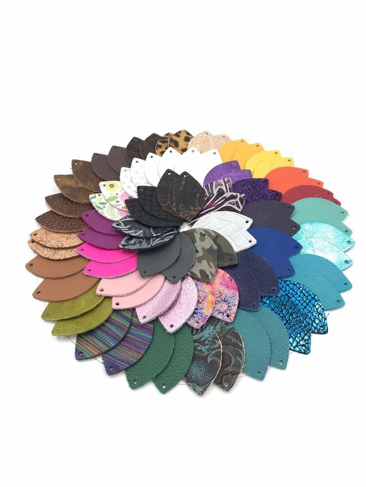 Leather Earrings-Leather Teardrop Earrings-Joanna Gaines Inspired-1″, 1.5″, 2″ Pre-Cut Earrings-Diy