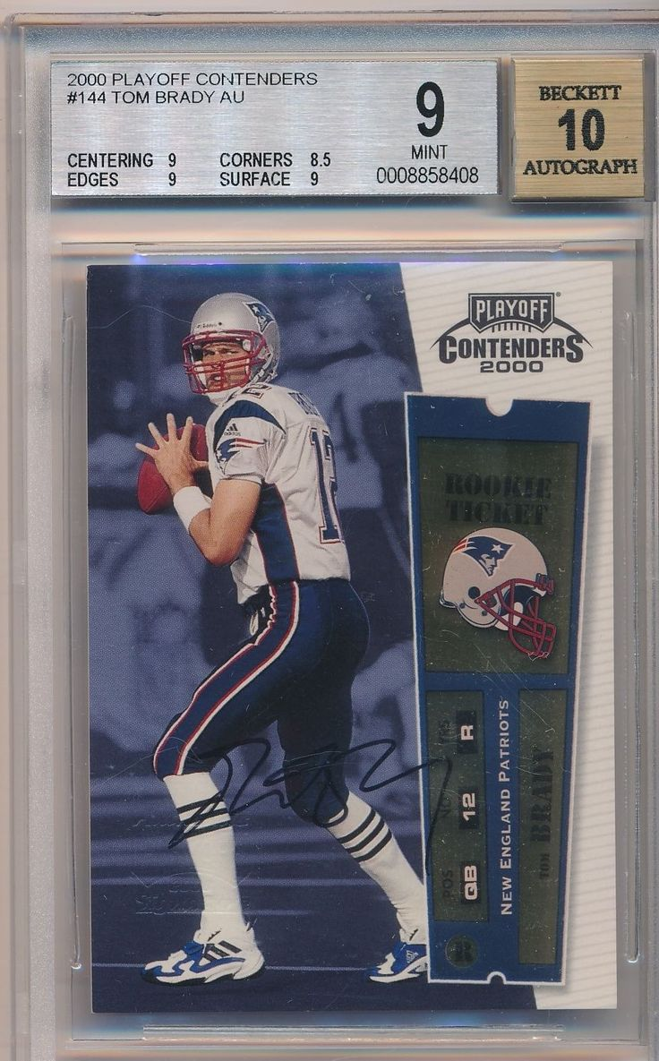 2000 Playoff Contenders Tom Brady Rookie Ticket Auto Autograph BGS 9/10 Mint