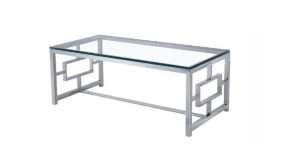 The Zenzi Console Table has a tempered glass top with stainless steel frame.  Size: L120xW60xH45 cm  (L47xW23.6xH17.7 inches) 15 mm  Contact us for pricing.