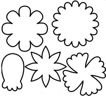 public domain image of flowers Paper Flowers Flower template