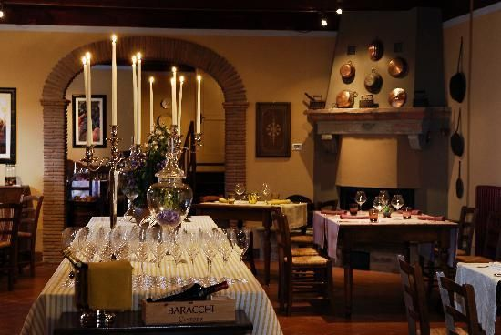The dining room at Locanda del Molino, Tuscany. This charming restaurant-with-rooms is part of the famous Baracchi wines empire. http://bit.ly/1Ohz3ix