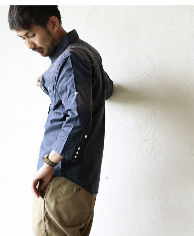 【楽天市場】【送料無料】 Audience [オーディエンス] シャツ 7分袖シャツ コットンリネン生地 綿麻 ウエスタンシャツ メンズシャツ レディースシャツ ネイビー 紺:PATY