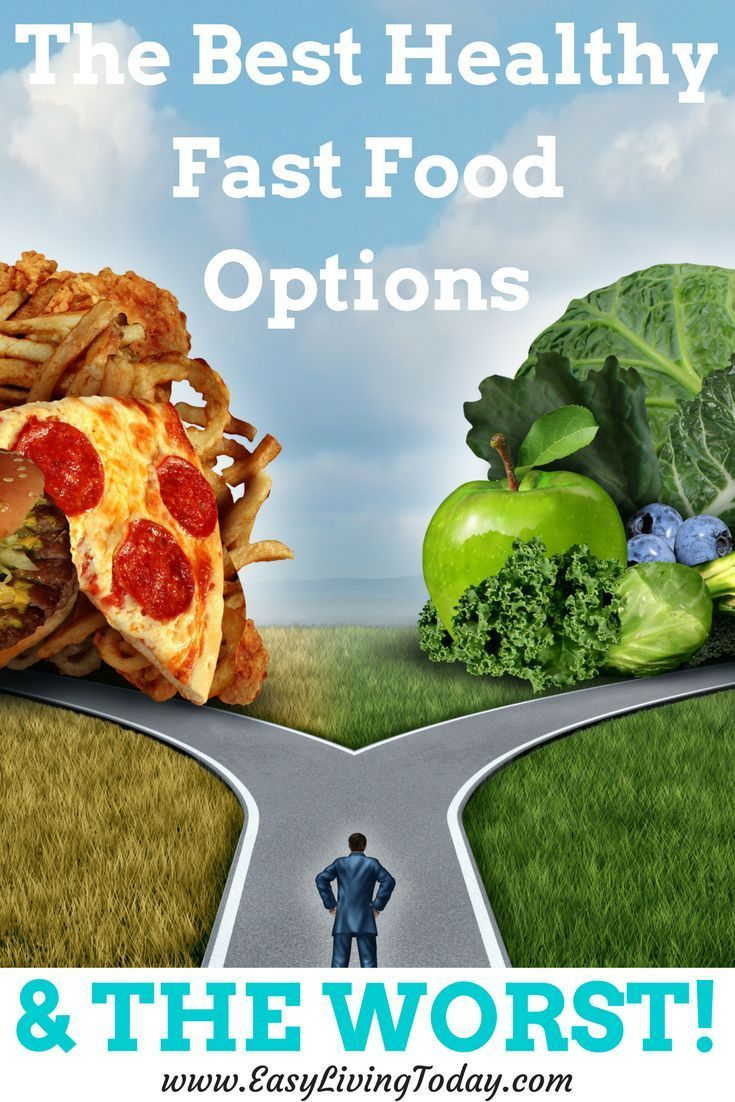 Don't know what to c  Don't know what to choose when you go to a fast food restaurant? Here are the best healthy fast food options at the most common restaurants... and the worst! And  #5  is just a drink! ♀️  https://www.pinterest.com/pin/323907398191774063/